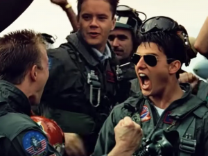 Things got intense on and off screen with the party boys of Top Gun