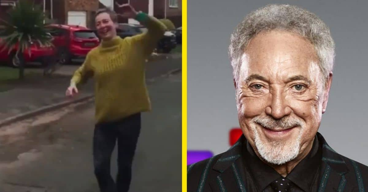 WATCH: Neighborhood Dances To Tom Jones From A Distance To Stay Connected