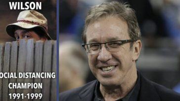 Tim Allen Shares 'Home Improvement' Throwback Of Mr. Wilson Social Distancing Champion