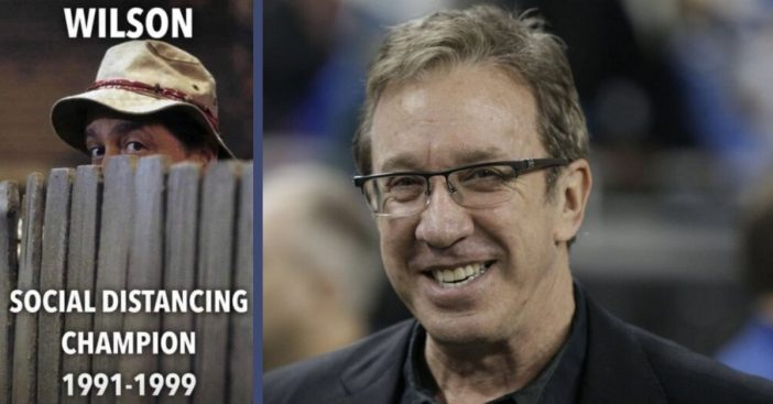 Tim Allen Shares 'Home Improvement' Throwback Of Mr. Wilson Social Distancing Champion