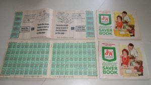 Unfortunately, S&H Green Stamps don't include the instant gratification today's society craves