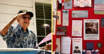 WWII Veteran Gets A Special Birthday Honor After His Party Was Canceled Due To The Pandemic