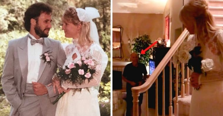 Woman Tries On Wedding Dress 35 Years Later, Husband's Reaction Is Making Us All Tear Up