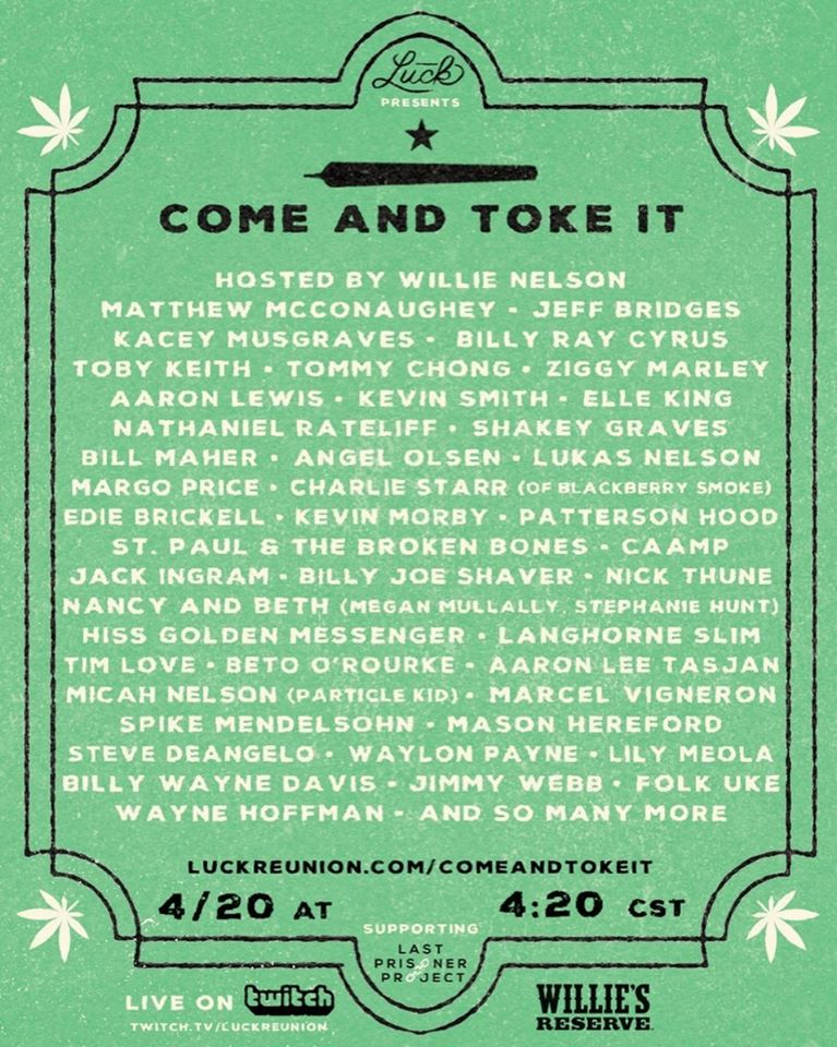 come and toke it willie nelson lineup