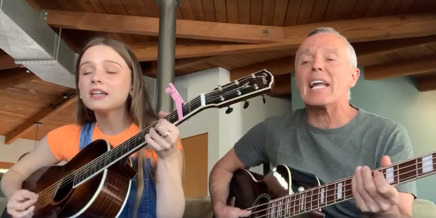 curt smith and daughter perform mad world during quarantine