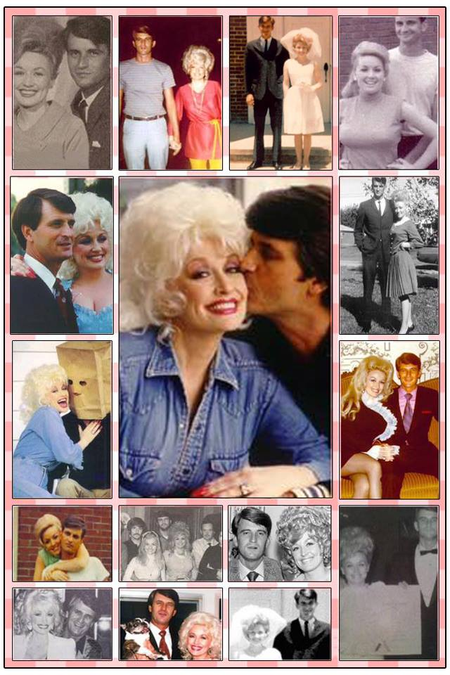 collage of dolly parton carl dean