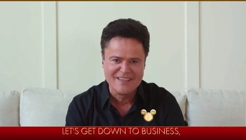 """donny osmond performing """"I'll Make a Man Out of You"""" from Mulan"""