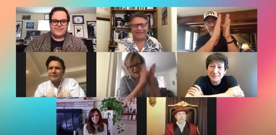 the goonies cast reunion with josh gad