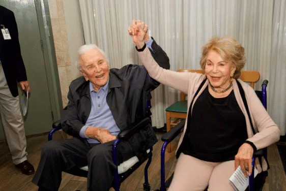 michael douglas wishes happy 101 birthday to anne buydens