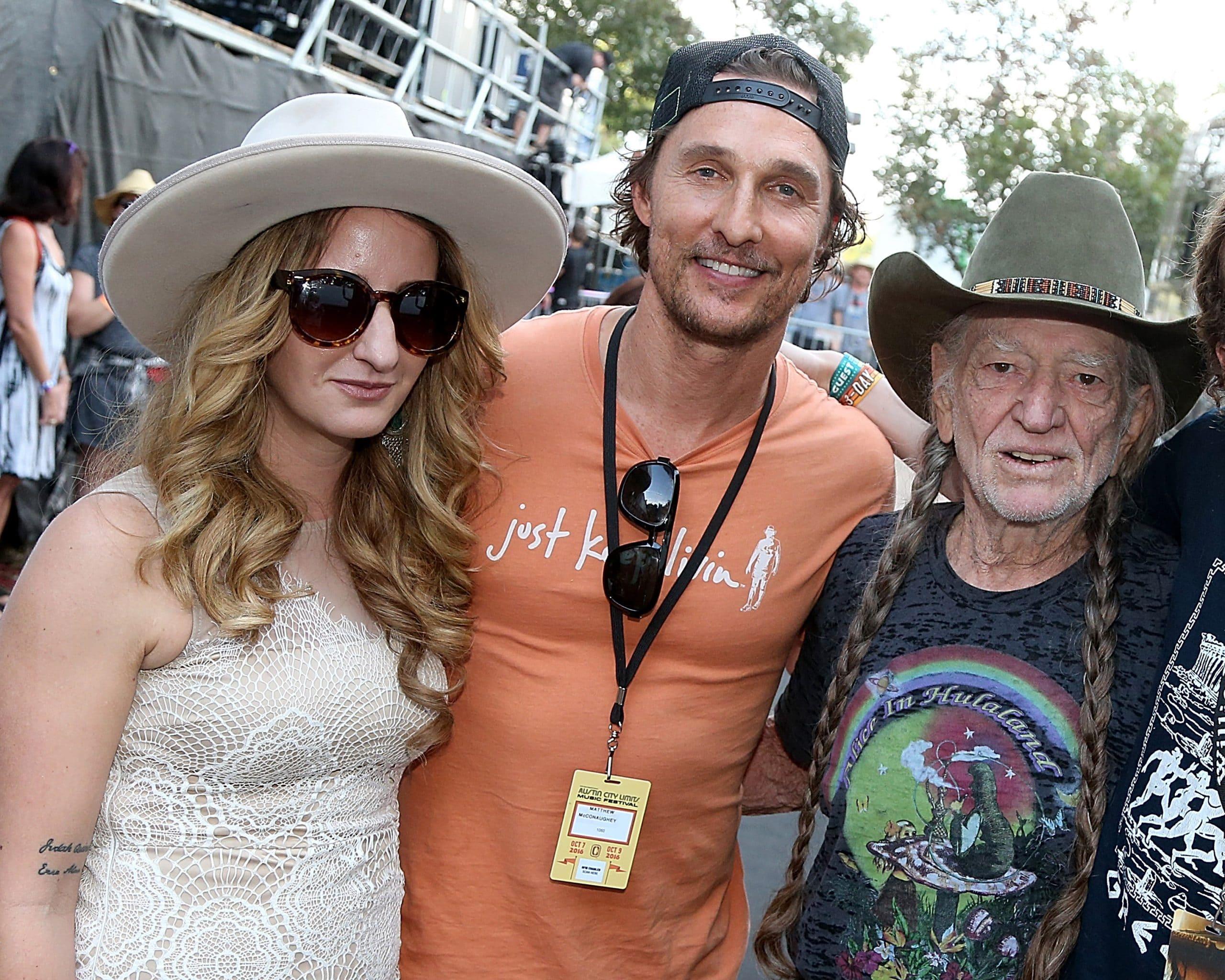 Margo Price, Matthew McConaughey and Willie Nelson