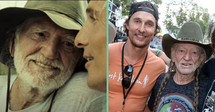 matthew mcconaughey wishes Willie Nelson a happy birthday