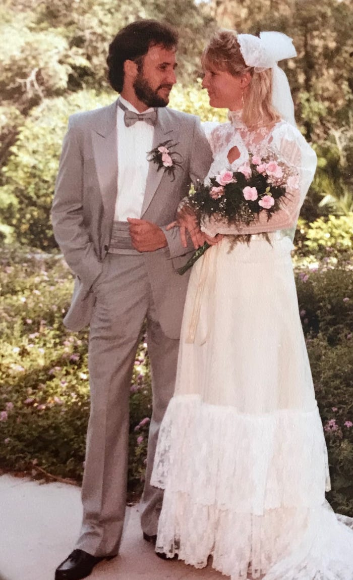 woman tries on wedding dress 35 years later pat trenkle