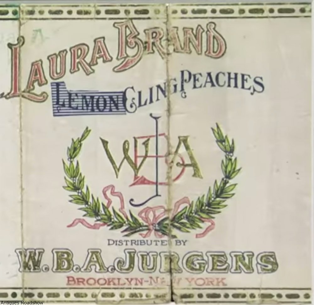 peach label from wwi time
