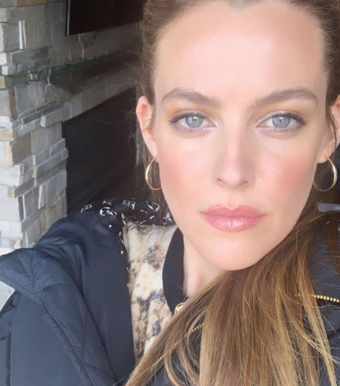 close up photo of riley keough