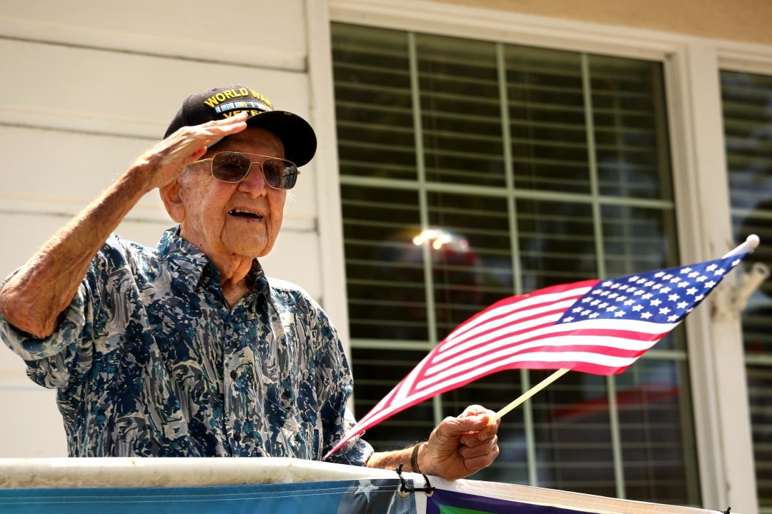sam sachs wwii vet gets special birthday honor