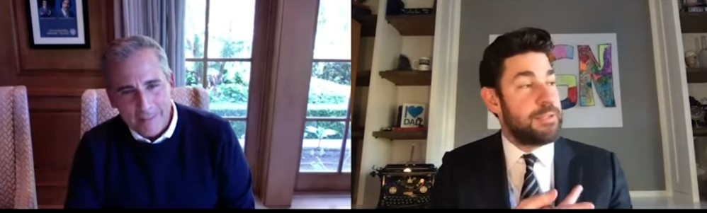 john krasinski steve carell the office