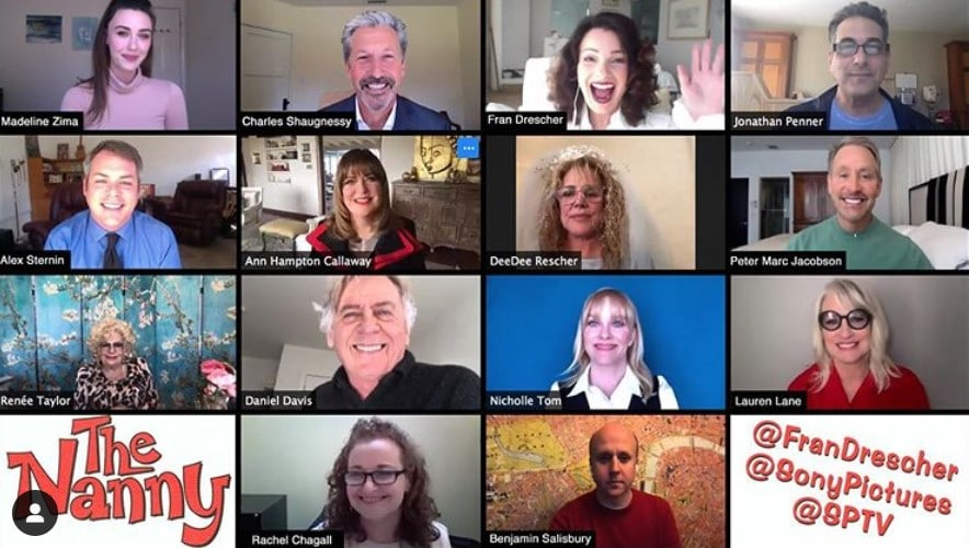 the nanny reunion on zoom video chat