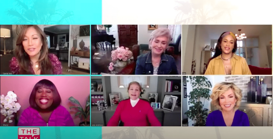 julie andrews on the talk with a special message