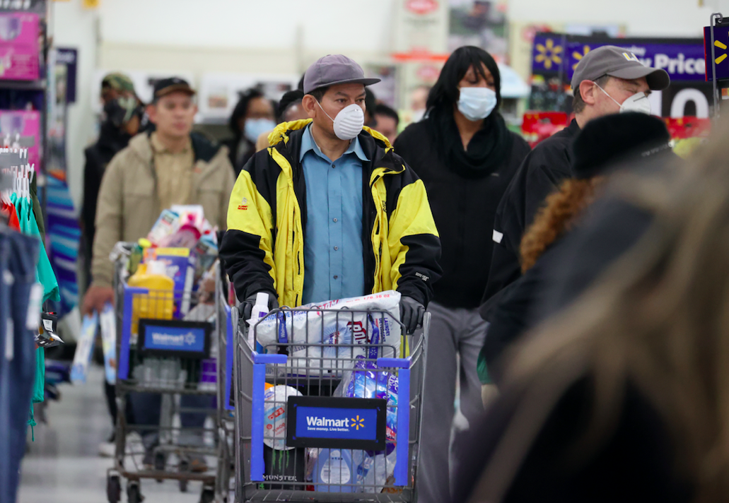 walmart limit people shopping at one time coronavirus