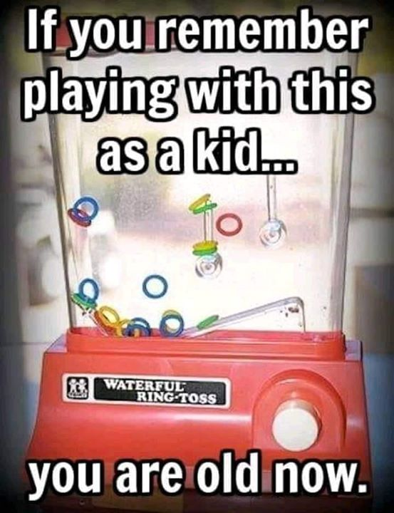 old toy waterful ring toss