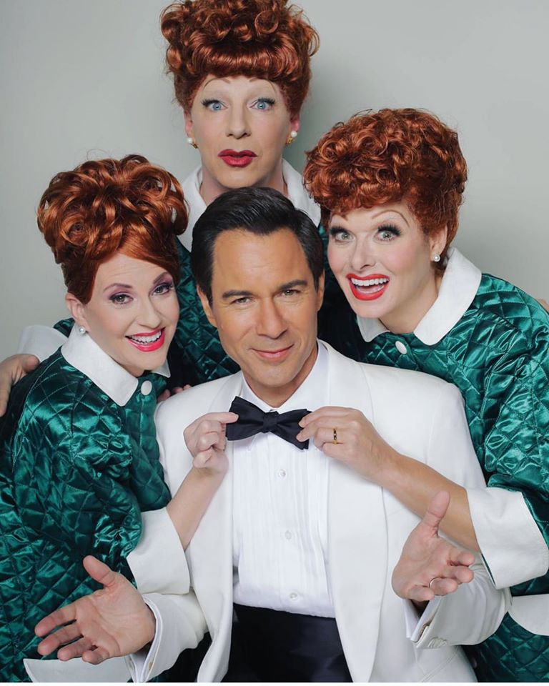 will and grace cast transform into lucille ball