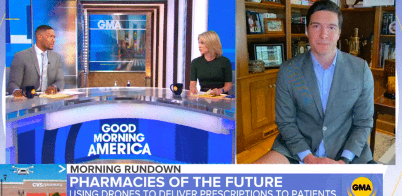 will reeve goes on gma with no pants