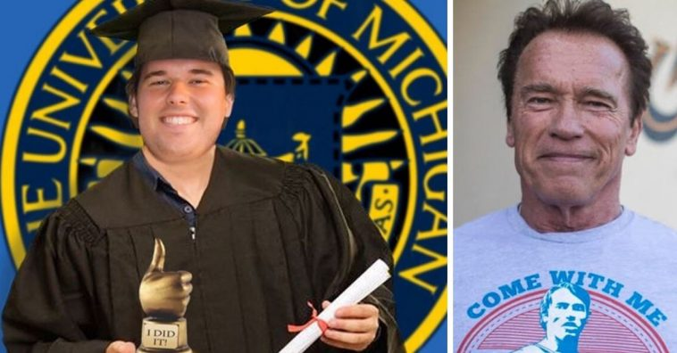 Arnold Schwarzenegger son Christopher graduated from University of Michigan