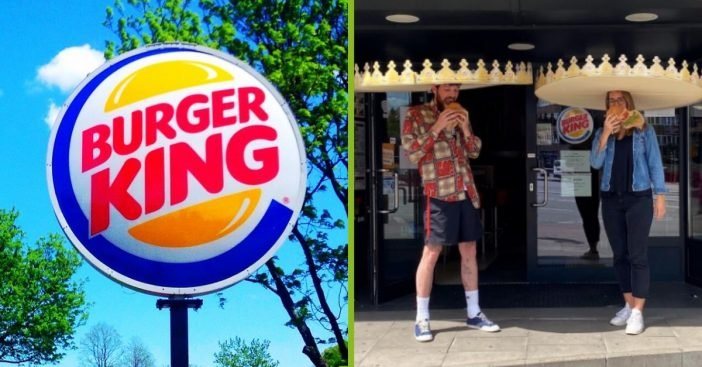 Burger King Debuts Giant Social-Distancing Crowns To Keep Customers Apart