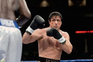 Filming for the Rocky films gave Stallone some confidence with boxing