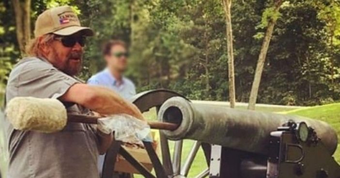 Hank Williams Jr turned 70 and set off a Civil War cannon