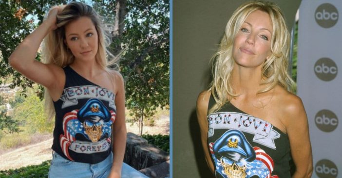 Heather Locklear's Daughter Posts Photo Sporting Her Mom's Old Bon Jovi Shirt