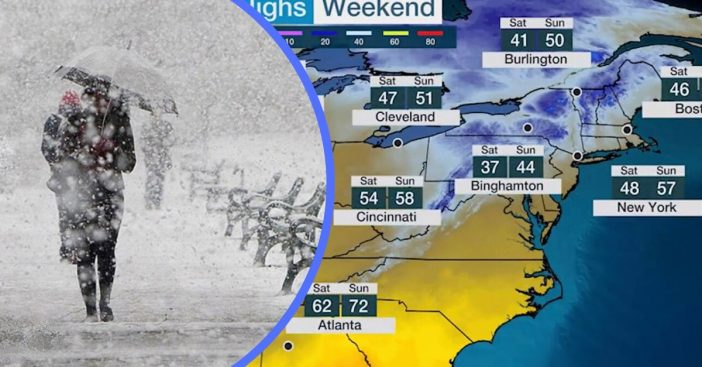 Historic May Snowstorm To Hit Northeast Ahead Of Mother's Day Weekend