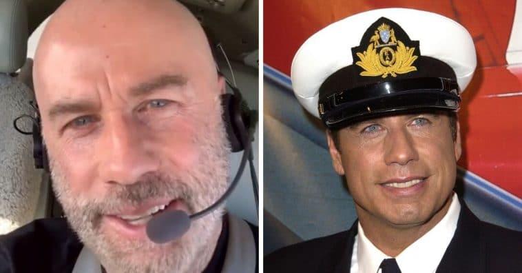 John Travolta flies private plane during quarantine