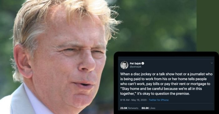 Pat Sajak Slams Media For 'Double Standards' Concerning Stay-At-Home Orders (1)