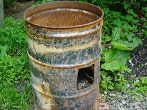 The burn barrel was a favorite among those who didn't have consistent waste management