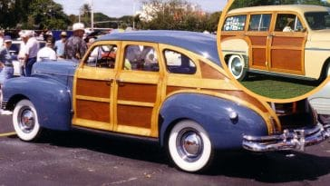 The wood-paneled station wagon isn't seen on the roads nearly as much anymore but used to be very popular