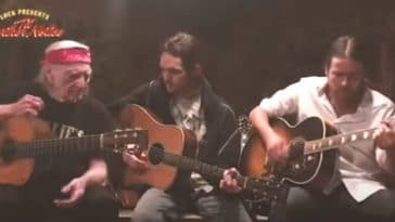 Willie Nelson performs with his sons