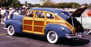 Woodie cars, wood-paneled station wagons, followed a trend for unique car detailing for a practical reason