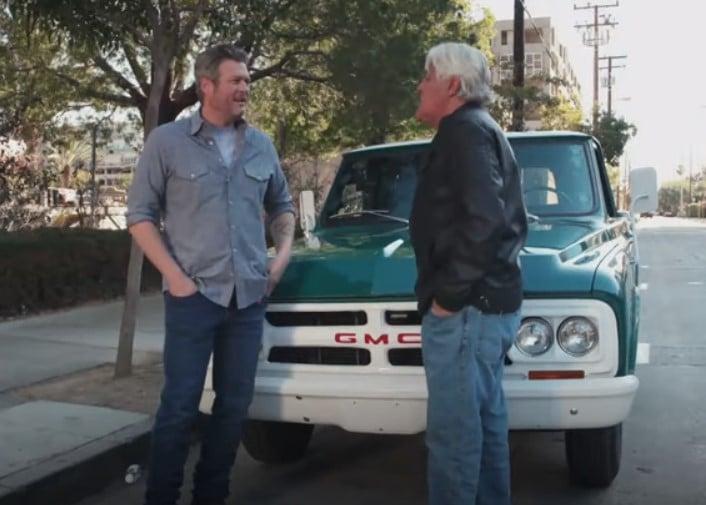 blake shelton jay lenos garage elvis truck
