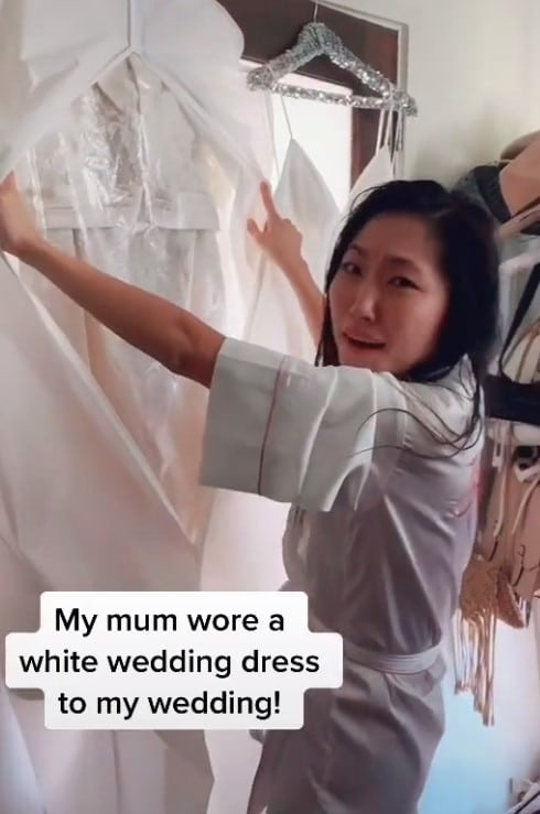 jane lu tiktok bride wedding dress