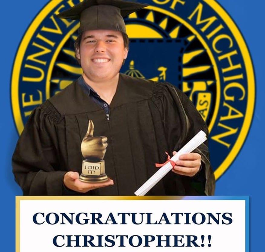christopher graduation university of michigan