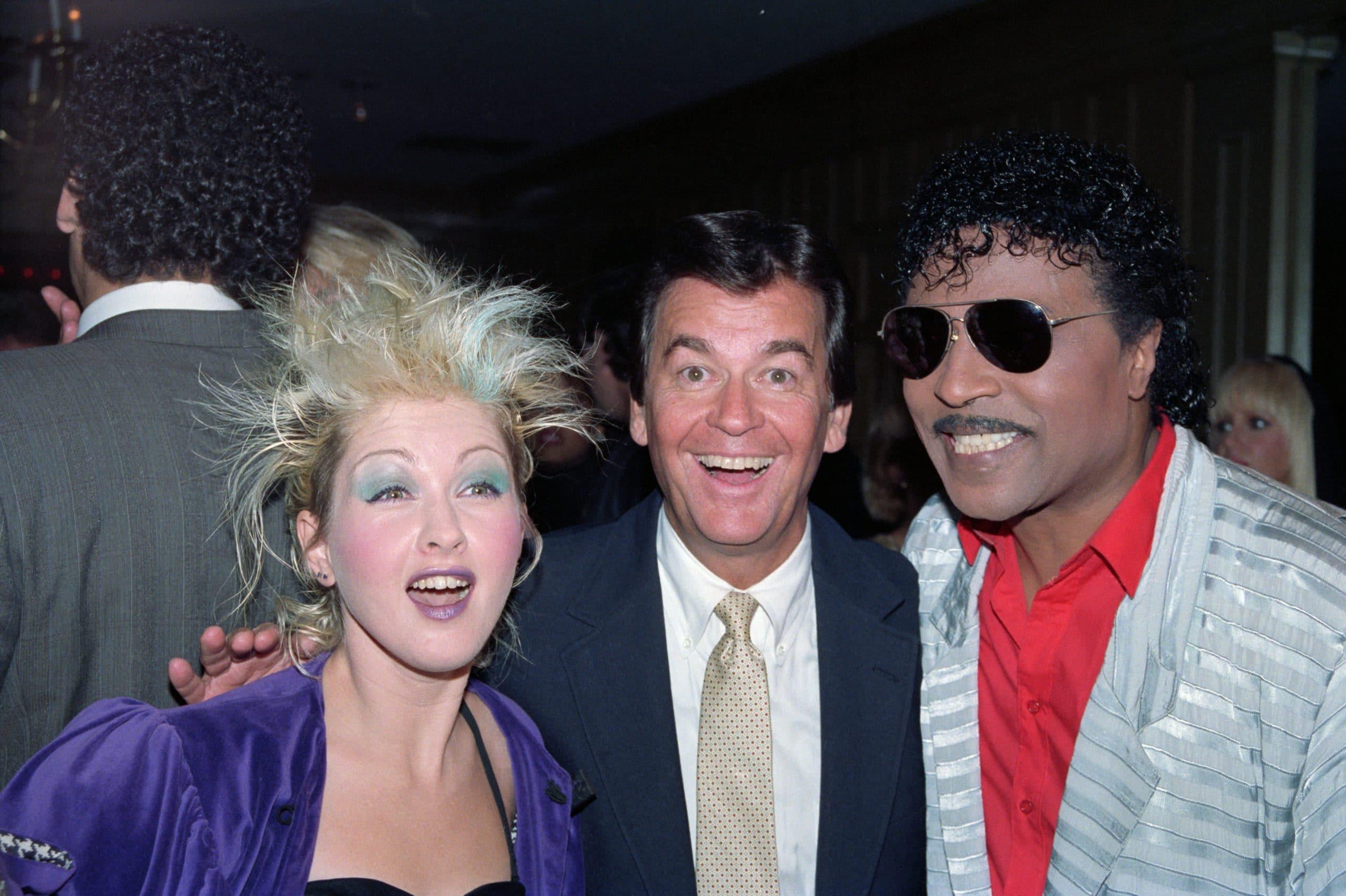 Cyndi Lauper, Dick Clark, and Little Richard