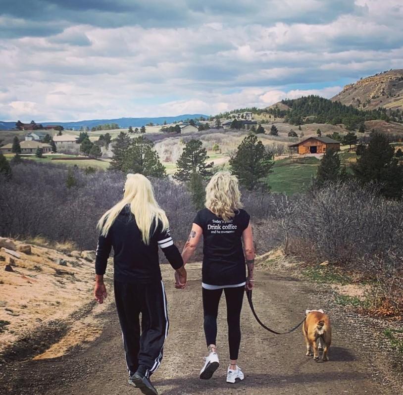 duane chapman francie frane walking the dog colorado