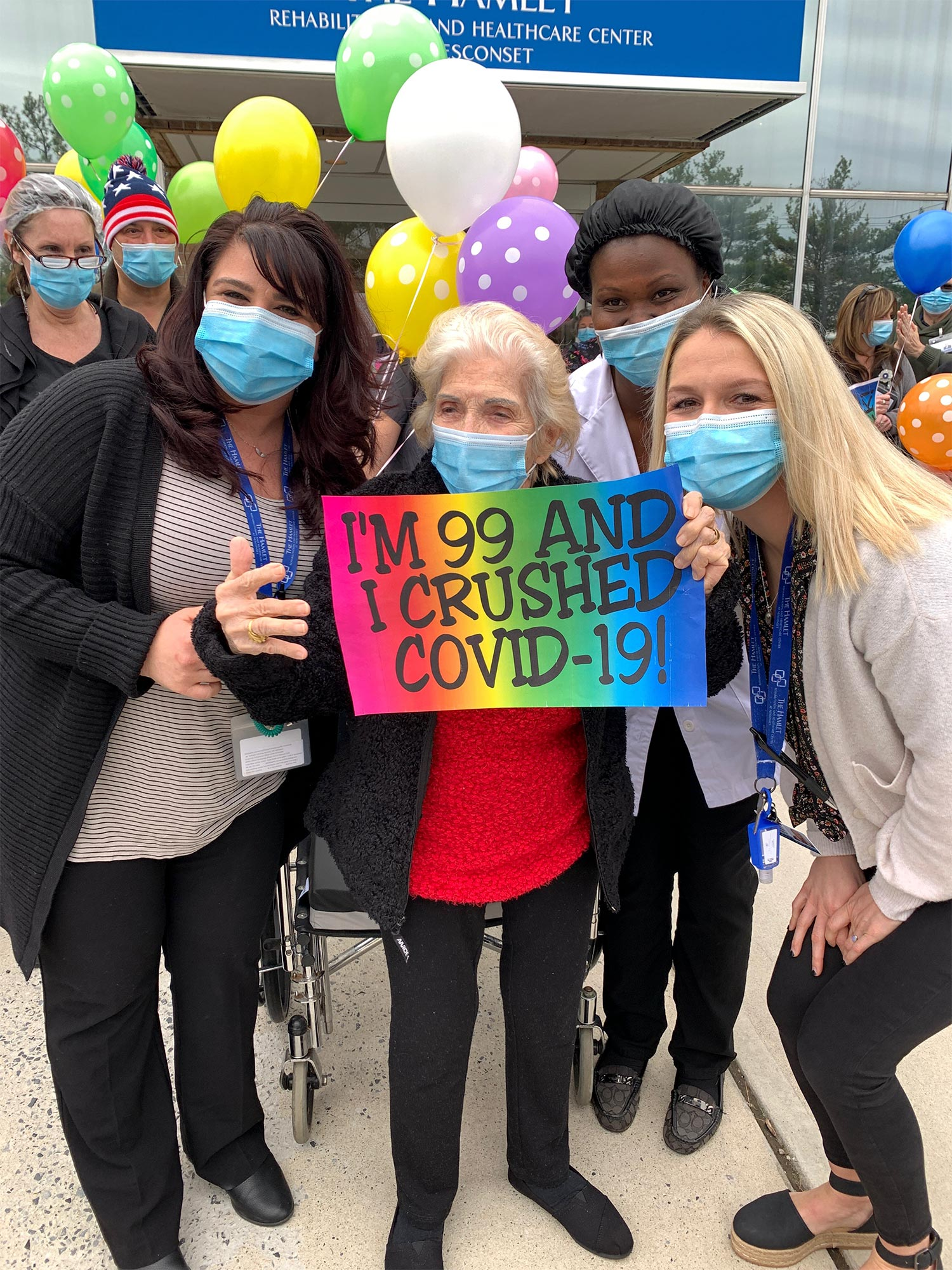 99-Year-Old Anne Giardino Beats COVID-19 And Has A Special Celebration