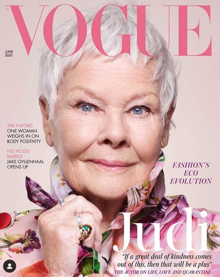 judi dench cover of british vogue magazine
