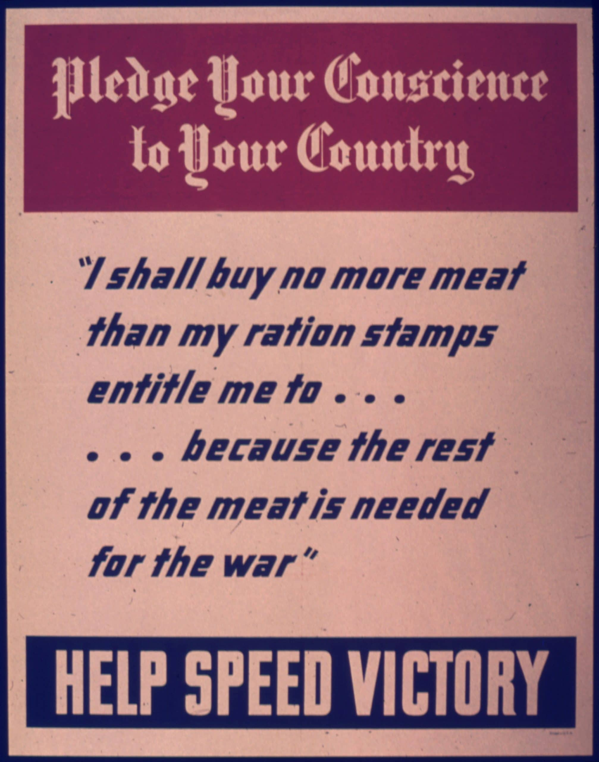 meat rationing poster