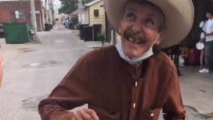A video showed Don Rosario's disbelieving joy when the two strangers stepped in to help