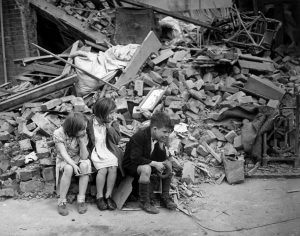 Because they lived among key targets hit by German fire, Britain's lost children became a priority to relocate to safety