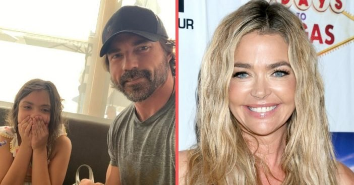 Denise Richards daughter said dad for the first time