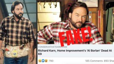 Despite Facebook Rumor, Richard Karn Of 'Home Improvement' Is NOT Dead